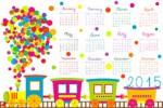 calendrier-pour-des-enfants-avec-le-train-de-bande-dessinée-35931531.jpg